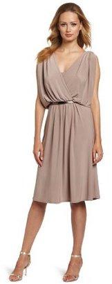 Jones New York Women's Matte Jersey Draped Armhole Dress