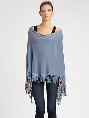Minnie Rose Cotton Fringe Ruana