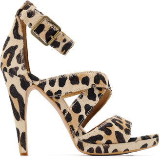 MANGO Strap design animal print sandal