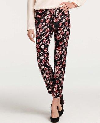 Ann Taylor Floral Print Shantung Ankle Pants