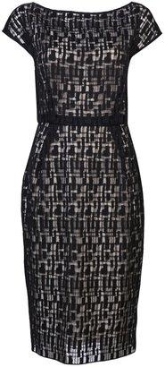 Lela Rose Jigsaw lace dress