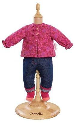 """Corolle Mon Classique 14"""" Doll Fashions (Grenadine Blouse & Denim Pants)"""