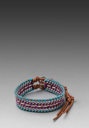 Chan Luu Double Chain Bracelet in Blue/Purple