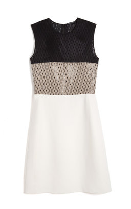 Narciso Rodriguez Preorder Bonded Linen Netting Combo Dress