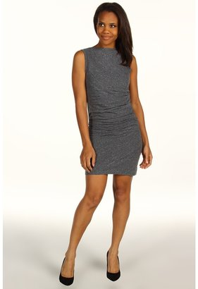 Calvin Klein Jeans Knit Side Rouched Dress (Charcoal Heather) - Apparel