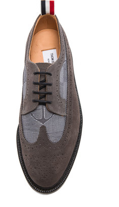 Thom Browne Long Wing Anchor Shoes in Grey