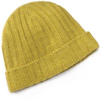 SIJJL Yellow Knit Wool Beanie Hat