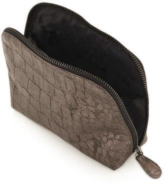 Topshop Metallic Croc Lady Make Up Bag