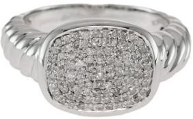 EFFY COLLECTION Sterling Silver Pavé Diamond Ring