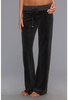 Juicy Couture Original Velour Drawstring Pant (Top Hat) Women's Casual Pants