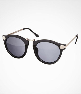 Express Metal Accent Round Sunglasses