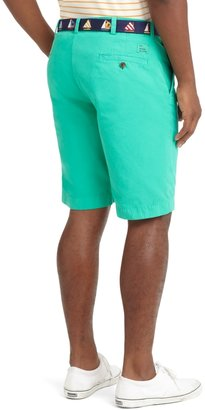 """Brooks Brothers Garment-Dyed Plain-Front 11"""" Twill Bermuda Shorts"""