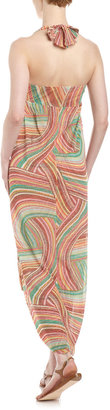 Sweet Pea High-Low Halter Maxi Dress, Jamboree