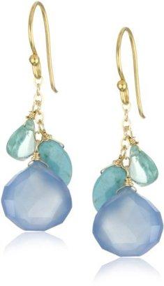 """Wendy Mink Treasured"""" Blue Cluster Earrings"""