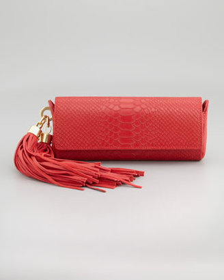 Z Spoke Zac Posen Claudette Tassel Clutch Bag, Poppy
