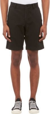 Barneys New York Twill Chino Shorts-Black