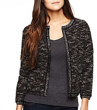 JCPenney a.n.a® 3/4-Sleeve Cardigan
