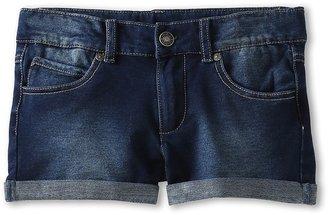 Benetton Kids - Girls' Denim Sweat Shorts (Little Kids/Big Kids) (Dark Denim Wash) - Apparel
