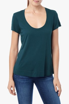 7 For All Mankind Short Sleeve Modal Tee In Everglade