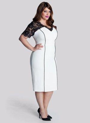 IGIGI Denise Plus Size Dress in Ivory