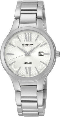 Seiko Womans Stainless Steel Solar Bracelet Watch SUT207 $235 thestylecure.com