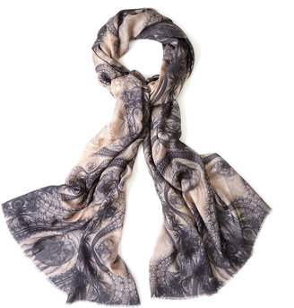 Lily & Lionel Lace Blush Silk And Wool Scarf