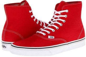 Vans Authentic Hi (True Red) - Footwear
