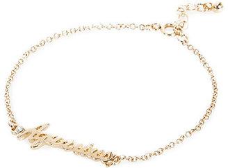 River Island Womens Gold tone Aquarius bracelet