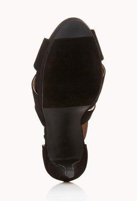 Forever 21 Bombshell Strappy Platform Sandals