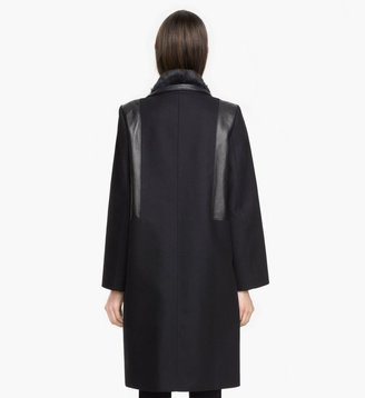Helmut Lang Void Felt Fur Coat