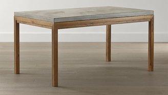 Crate & Barrel Parsons Concrete Top/ Elm Base 60x36 Dining Table
