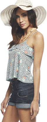 Wet Seal Floral Ruffle Tank