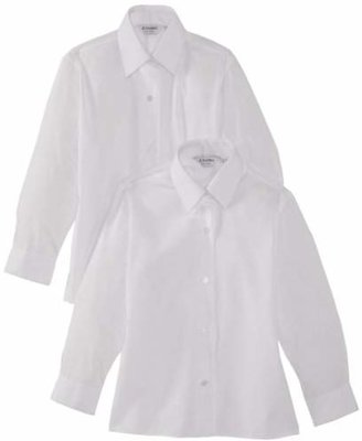"Trutex 2pk Girl's Long Sleeve Easy Care Blouse,(Manufacturer Size: 38"" Chest)"