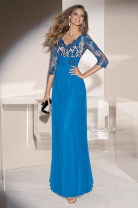 Alyce Paris Mother of the Bride - 29678 Dress in Blue Coral $378 thestylecure.com