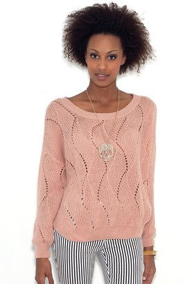 Lush Clothing Sweater Top in Dusty Rose