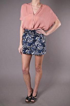 Waverly Grey Dalia Shorts Navy and White