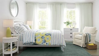 Crate & Barrel Arch White 3-Drawer Chest
