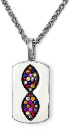 EFFY COLLECTION Sterling Silver, Multicolor and Enamel Pendant
