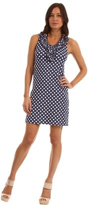 Kate Spade Gingham Lucille Knit Dress (French Navy Spring Gingham) - Apparel
