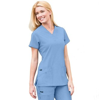 Jockey scrubs zipper-pocket top - women's