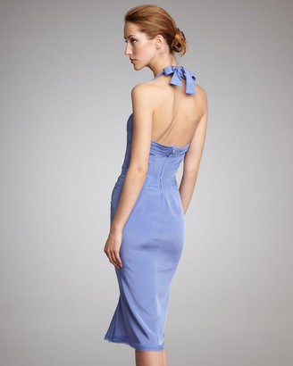 Zac Posen Silk Halter Dress