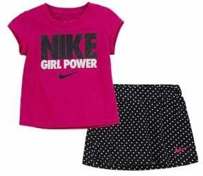 Nike Little Girl's Two-Piece Tee Scooter Set