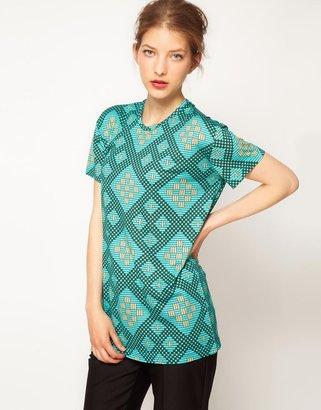 Jonathan Saunders Boyfriend T-Shirt In All Over Print