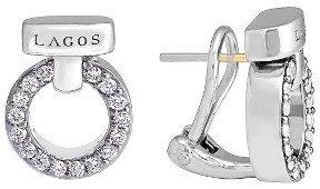 Women's Lagos 'Enso - Circle Game' Diamond Stud Earrings $1,700 thestylecure.com