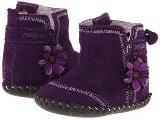 pediped Gina Original (Infant) (Eggplant Suede) - Footwear