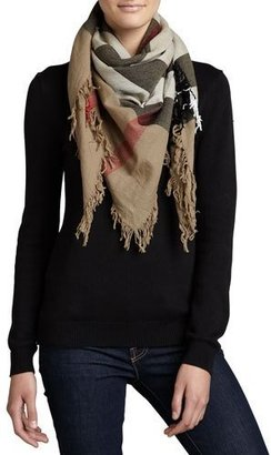 Burberry Check Extrafine Wool Scarf, House $395 thestylecure.com