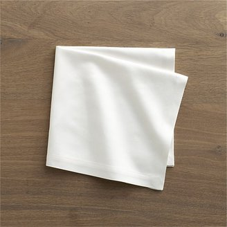 Crate & Barrel Sateen White Napkin