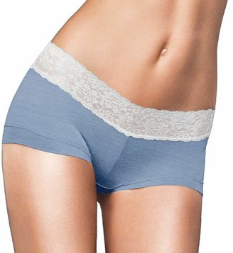 Maidenform Cotton Dream Lace-Trim Boyshorts 40859 - Women's $11.50 thestylecure.com