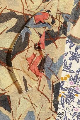 Suno Paneled cotton and silk-blend tank