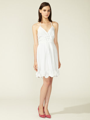 Vera Wang Halter Floral Accent Day Dress